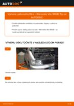 Podrobný PDF tutorial k výmene MERCEDES-BENZ VITO Bus (638) Palivový filter