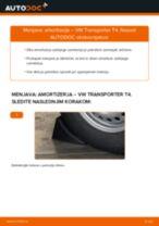 Vgraditi Blažilnik VW TRANSPORTER IV Bus (70XB, 70XC, 7DB, 7DW) - priročniki po korakih