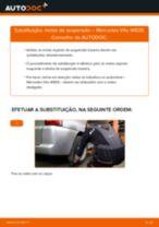 Como mudar molas de suspensão da parte traseira em Mercedes Vito W638 - guia de substituição