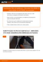 Como mudar filtro habitáculo em Mercedes Vito W638 - guia de substituição