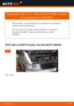 Como mudar filtro de ar em Mercedes Vito W638 - guia de substituição