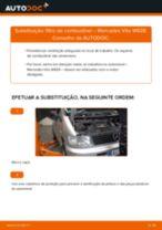 Como mudar filtro de combustível em Mercedes Vito W638 - guia de substituição