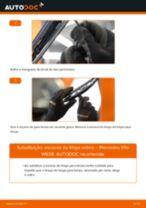 Como mudar escovas do limpa vidros da parte dianteira em Mercedes Vito W638 - guia de substituição