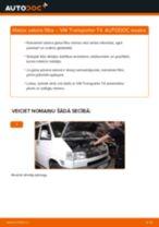 Kā nomainīt un noregulēt Salona filtrs VW TRANSPORTER: pdf ceļvedis