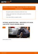 Montavimo Rankinio Stabdžio Trosas MERCEDES-BENZ VITO Bus (638) - žingsnis po žingsnio instrukcijos