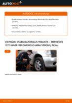 Pakeisti Įsiurbimo vamzdis, oro filtras MERCEDES-BENZ VITO: instrukcija