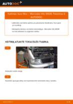 PDF keitimo instrukcija: Kuro filtras MERCEDES-BENZ VITO autobusas (638) dyzelinas ir benzinas