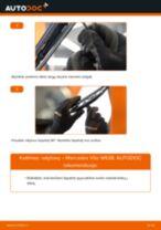 Kaip pakeisti ir sureguliuoti Stiklo valytuvai MERCEDES-BENZ VITO: pdf pamokomis
