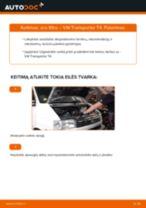 VW TRANSPORTER Variklio oro filtras keitimas: nemokamas pdf