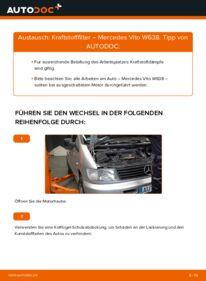 Wie der Wechsel durchführt wird: Kraftstofffilter 112 CDI 2.2 (638.194) Mercedes W638 Bus tauschen