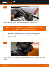 Wie der Wechsel durchführt wird: Scheibenwischer 112 CDI 2.2 (638.194) Mercedes W638 Bus tauschen