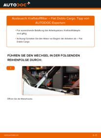 Wie der Wechsel durchführt wird: Kraftstofffilter 1.9 JTD Fiat Doblo Cargo tauschen