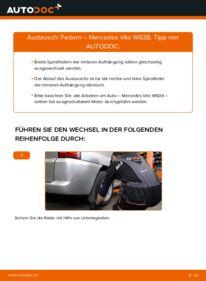 Wie der Wechsel durchführt wird: Federn 112 CDI 2.2 (638.194) Mercedes W638 Bus tauschen