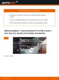 Comment effectuer un remplacement de Filtre à Huile sur 1.2 Fiat 500 312