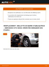 Comment effectuer un remplacement de Biellette De Barre Stabilisatrice sur 112 CDI 2.2 (638.194) Mercedes W638 Bus