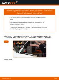 Ako vykonať výmenu: Tlmič pruzenia na 1.9 JTD Fiat Doblo Cargo