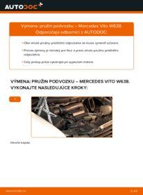 Ako vykonať výmenu: Pruženie na 112 CDI 2.2 (638.194) Mercedes W638 Bus