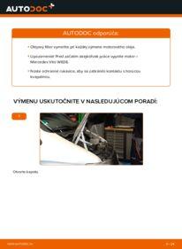 Ako vykonať výmenu: Olejový filter na 112 CDI 2.2 (638.194) Mercedes W638 Bus