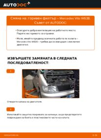 Как се извършва смяна на: Горивен филтър на 112 CDI 2.2 (638.194) Mercedes W638 Микробус