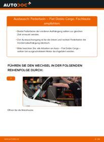 Wie der Wechsel durchführt wird: Stoßdämpfer 1.9 JTD Fiat Doblo Cargo tauschen