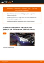 Schritt-für-Schritt-PDF-Tutorial zum Stoßdämpfer-Austausch beim PEUGEOT 208