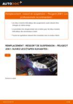 Comment changer : ressort de suspension avant sur Peugeot 208 1 - Guide de remplacement