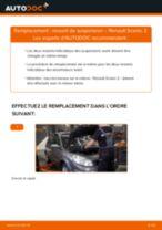 Comment changer : ressort de suspension avant sur Renault Scenic 2 - Guide de remplacement