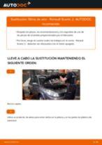 Cambiar Filtro de Aire RENAULT SCÉNIC: manual de taller