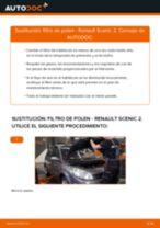 Cómo cambiar: filtro de polen - Renault Scenic 2 | Guía de sustitución