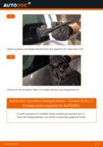 Cómo cambiar: escobillas limpiaparabrisas de la parte trasera - Renault Scenic 2 | Guía de sustitución