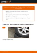 Fitting Suspension spring PEUGEOT 208 - step-by-step tutorial