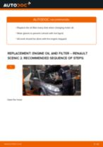PDF replacement tutorial: Oil filter RENAULT SCÉNIC II (JM0/1_)