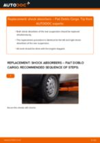 Changing Anti Roll Bar Bushes FIAT DOBLO: workshop manual