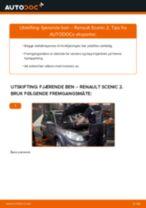 Montering Støtdempere RENAULT SCÉNIC II (JM0/1_) - steg-for-steg manualer