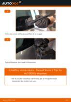 Slik bytter du vindusviskere bak på en Renault Scenic 2 – veiledning