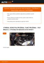 Podrobný PDF tutorial k výmene FIAT BRAVO II (198) Tlmič pruzenia