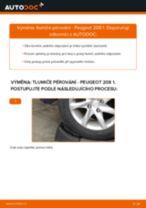 Doporučení od automechaniků k výměně PEUGEOT Peugeot 208 1 1.2 Tlumic perovani