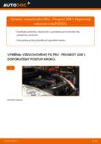 PDF návod na výměnu: Vzduchovy filtr PEUGEOT 208 I Hatchback (CA_, CC_)