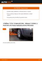 Jak vyměnit přední tyčky stabilizátora na Renault Scenic 2 – návod k výměně
