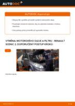 Jak vyměnit motorový olej a olejový filtr na Renault Scenic 2 – návod k výměně