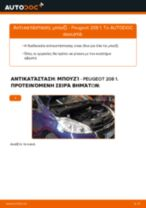 PDF εγχειρίδιο αντικατάστασης: Μπουζί PEUGEOT 208 I Hatchback (CA_, CC_)