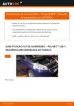 Manual DIY sobre como substituir o Amortecedor no PEUGEOT 208