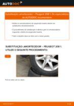 Tutorial passo a passo em PDF sobre a substituição de Amortecedor no PEUGEOT 208