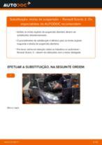 Como mudar molas de suspensão da parte dianteira em Renault Scenic 2 - guia de substituição