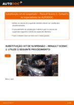 Como mudar kit de suspensão da parte dianteira em Renault Scenic 2 - guia de substituição