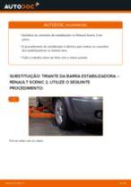 Como mudar tirante da barra estabilizadora da parte dianteira em Renault Scenic 2 - guia de substituição