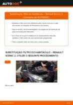 Como mudar filtro habitáculo em Renault Scenic 2 - guia de substituição
