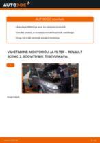 Millal vahetada Remondikomplekt,kande / juhtliigend RENAULT SCÉNIC II (JM0/1_): käsiraamat pdf