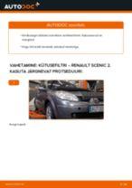 UFI 24.095.01 eest SCÉNIC II (JM0/1_) | PDF asendamise õpetused