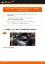 Elülső futómű rugó-csere Renault Scenic 2 gépkocsin – Útmutató